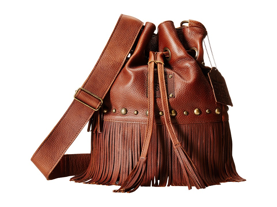 STS Ranchwear - The Free Spirit Bucket Bag (Saddle Brown) Handbags