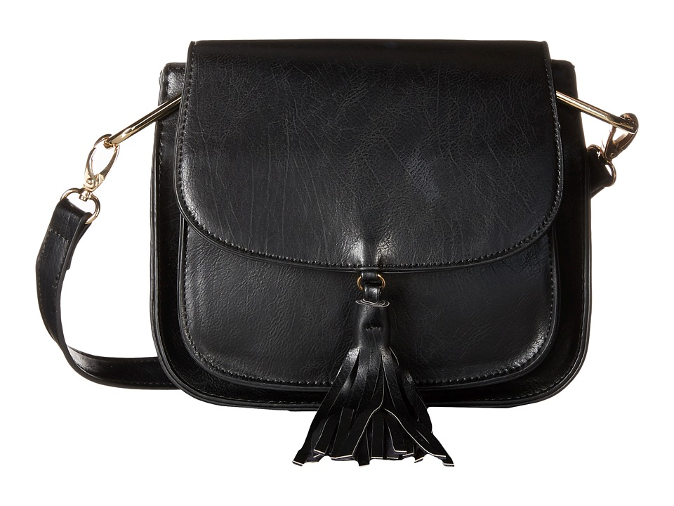 Gabriella Rocha - Lora Saddle Bag with Front Tassel (Black) Cross Body Handbags