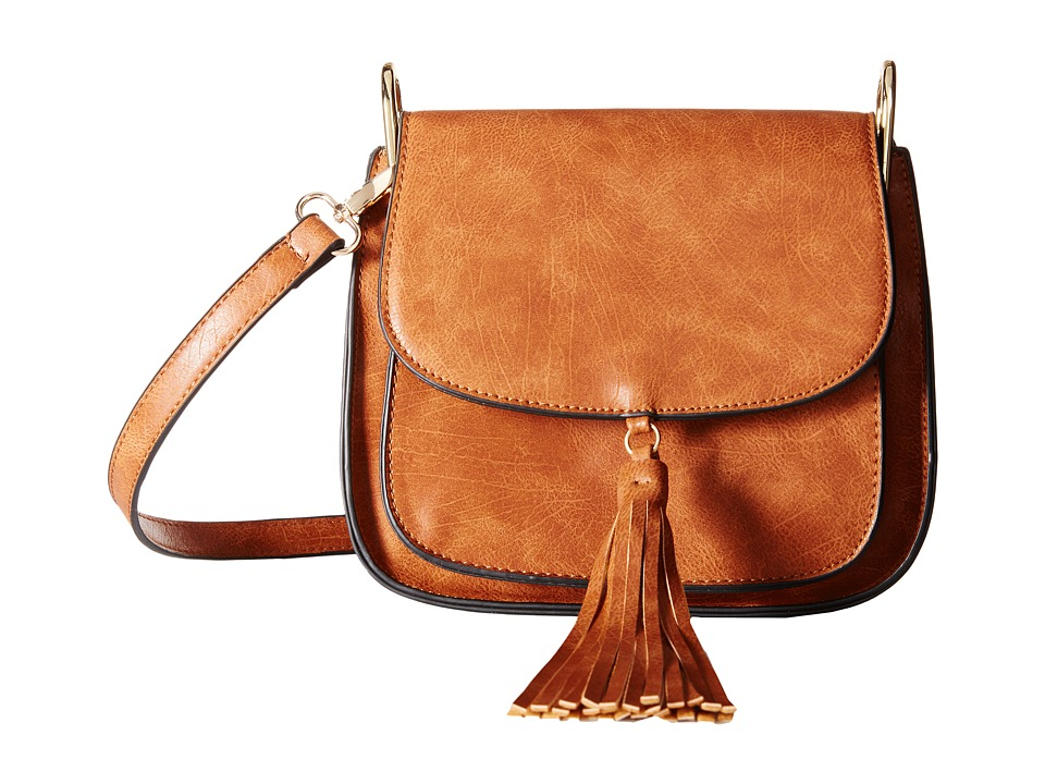 Gabriella Rocha - Lora Saddle Bag with Front Tassel (Camel) Cross Body Handbags