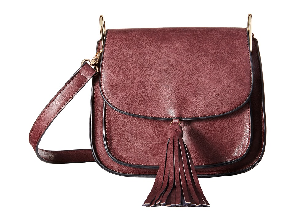 Gabriella Rocha - Lora Saddle Bag with Front Tassel (Wine) Cross Body Handbags