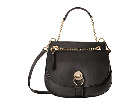 Gabriella Rocha - Lucinda Leather Purse with Gold Chain (Black) Satchel Handbags