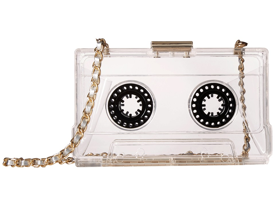 Gabriella Rocha - Melody Cassette Purse (Clear/Black) Handbags