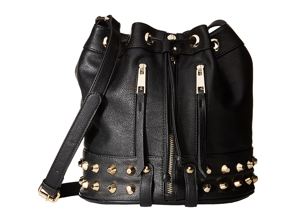 Gabriella Rocha - Studded Bucket Purse (Black) Cross Body Handbags