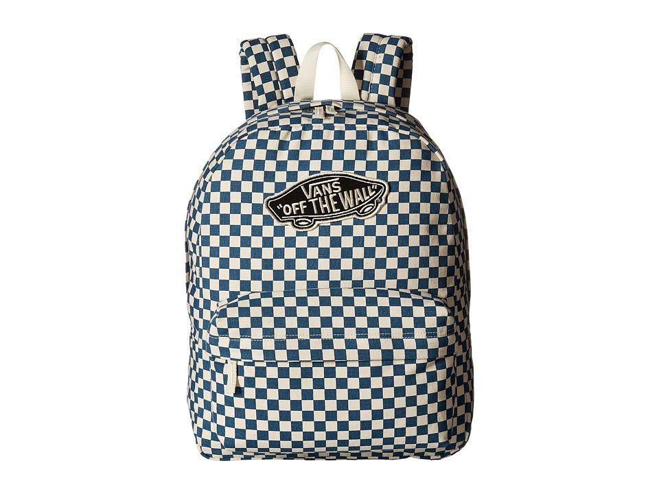 Vans - Checkerboard Backpack (Moroccan Blue) Backpack Bags