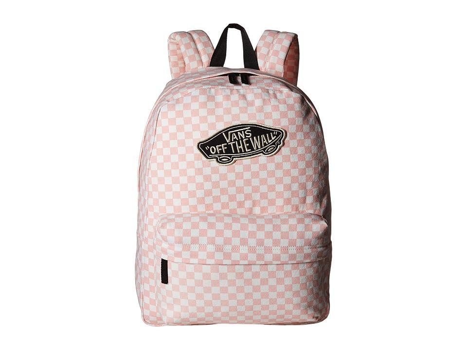 Vans - Checkerboard Backpack (Peach Skin) Backpack Bags