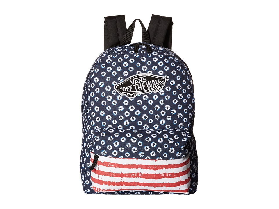 Vans - Realm Backpack ((Dyed Dots/Stripes) Blue/Red) Backpack Bags
