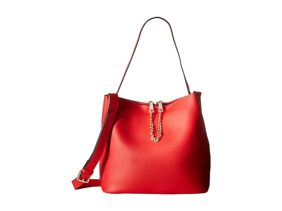 Gabriella Rocha - Sheila Leather Tote with Gold Chain (Red) Satchel Handbags