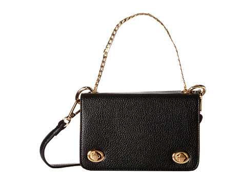 Gabriella Rocha - Marcella Mini Crossbody with Chain Detail (Black) Cross Body Handbags