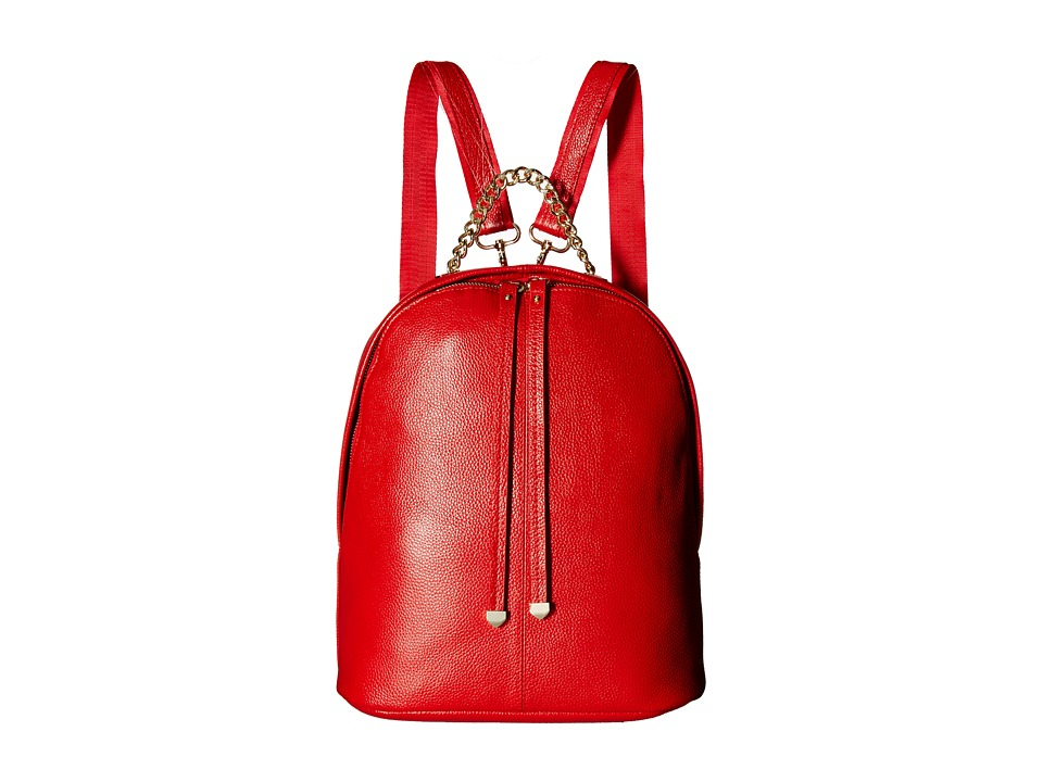Gabriella Rocha - Margo Leather Backpack with Gold Chain (Red) Backpack Bags