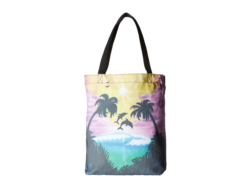 Vans - Been There Done That Tote ((Dolphin Beach) Black/True White) Tote Handbags