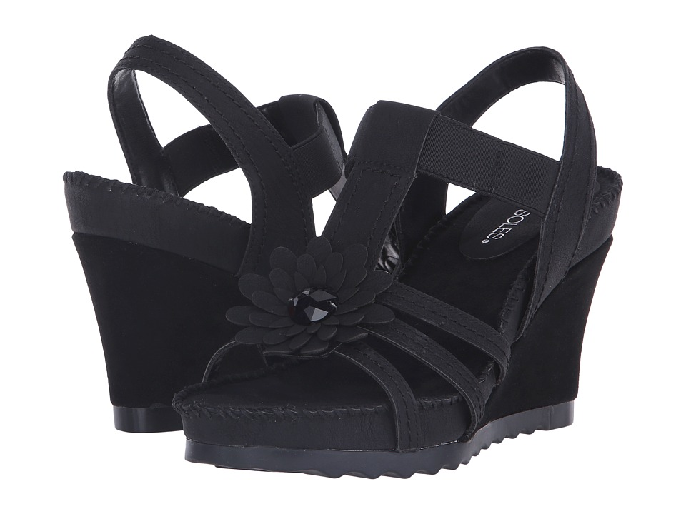 Aerosoles - Cottontail (Black) Women's Wedge Shoes