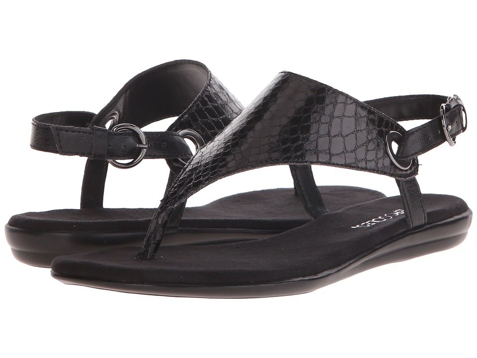 Aerosoles - Conchlusion (Black Snake) Women's Sandals