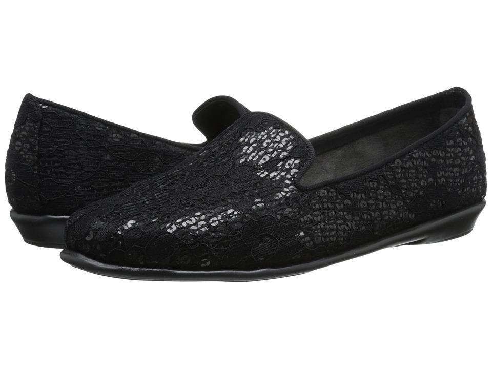 Image of Aerosoles - Betunia (Black Sequin Lace) Women's Flat Shoes