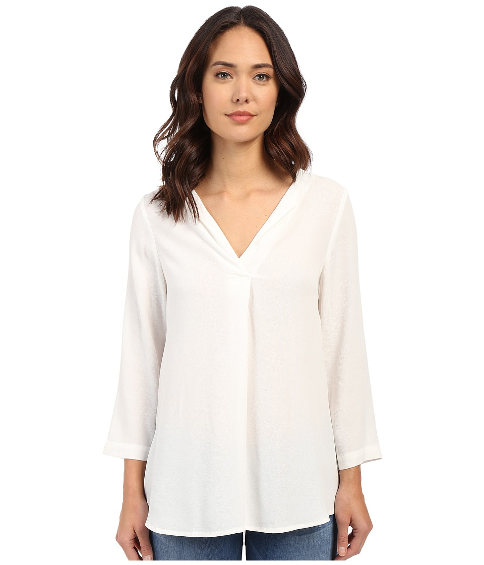 B Collection by Bobeau - V-Neck Blouse (White 1) Women's Blouse