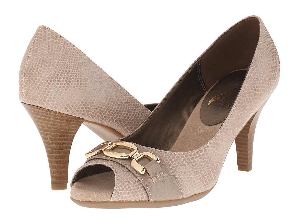 Aerosoles - Good Lux (Taupe Snake) High Heels