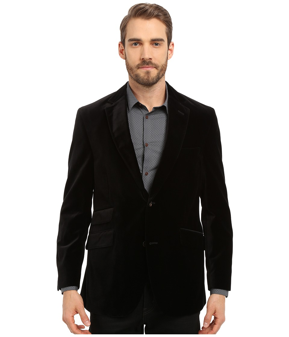 Kroon - Sting Two-Button Coat (Black) Men's Coat