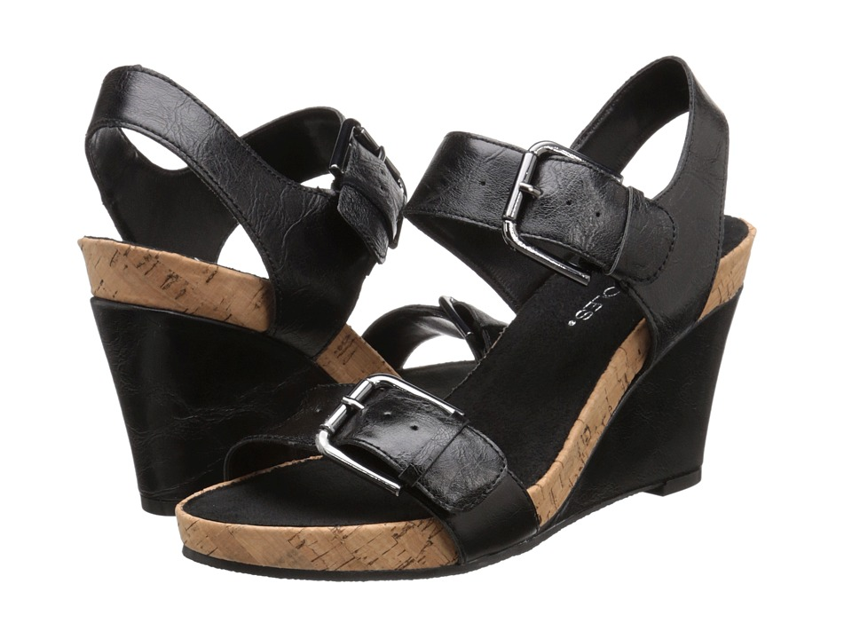 A2 by Aerosoles - Mega Plush (Black) Women's Wedge Shoes
