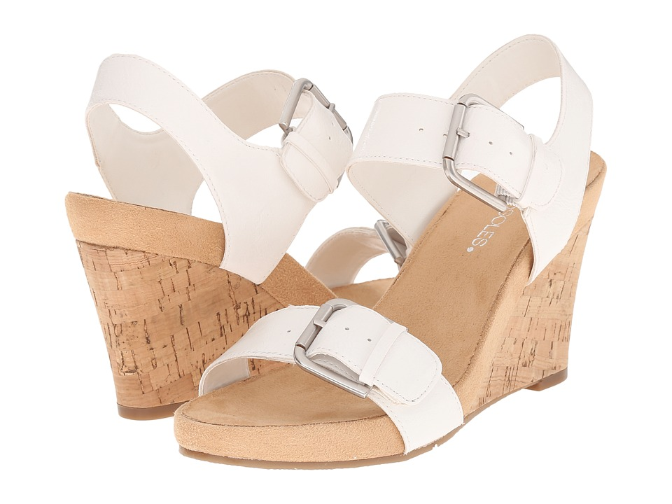 Aerosoles - Mega Plush (White) Women's Wedge Shoes