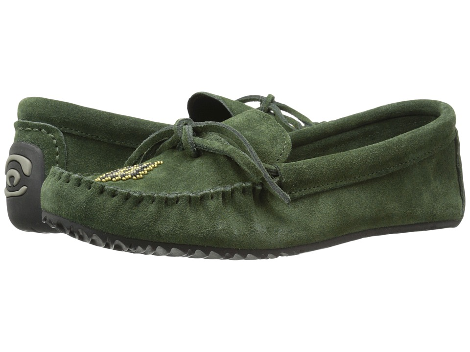 Manitobah Mukluks - Canoe Moccasin Suede (Moss) Women's Moccasin Shoes