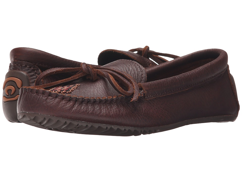 Manitobah Mukluks Canoe Moccasin Grain Leather (Cocoa) Women