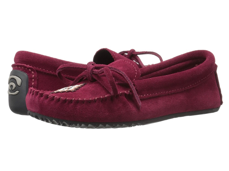 Manitobah Mukluks - Canoe Moccasin Suede (Rhubarb) Women's Moccasin Shoes
