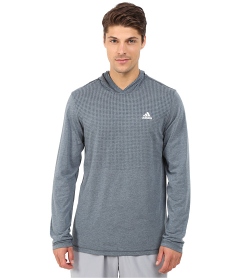 adidas - Aeroknit Hoodie (Midnight F15) Men's Workout