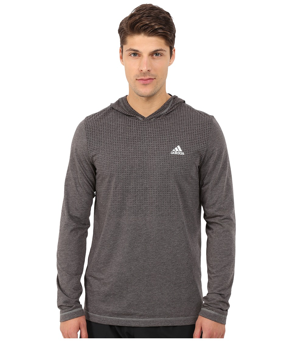 adidas - Aeroknit Hoodie (Black) Men's Workout