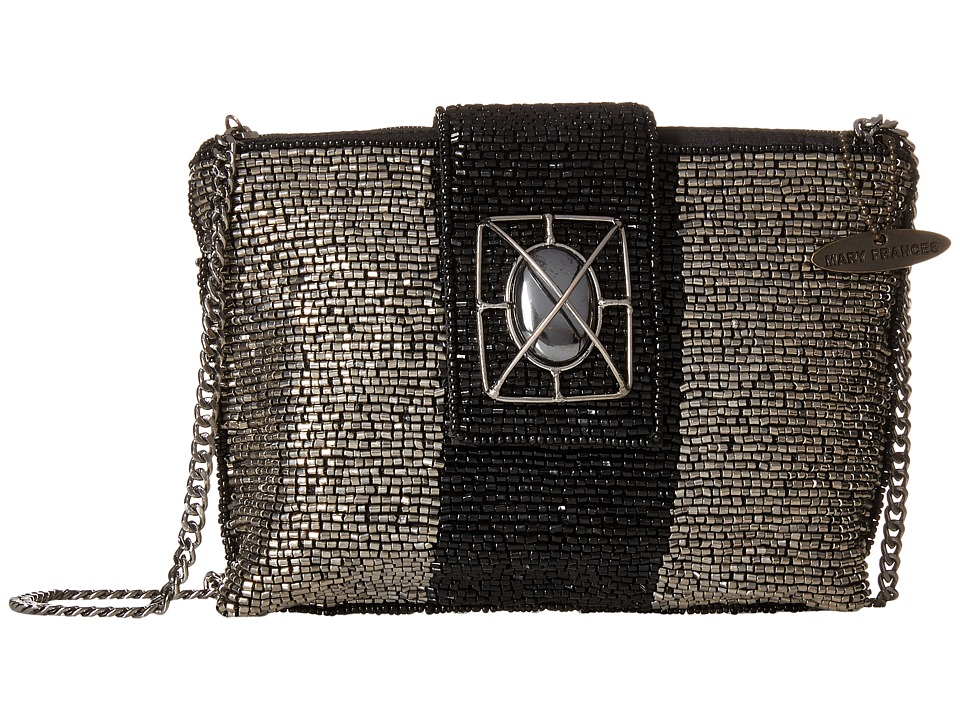 Mary Frances - Space Odyssey Mini (Silver/Black) Handbags