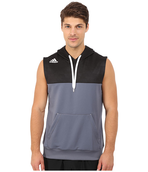 adidas - March Madness Sleeveless Hoodie (Onix) Men