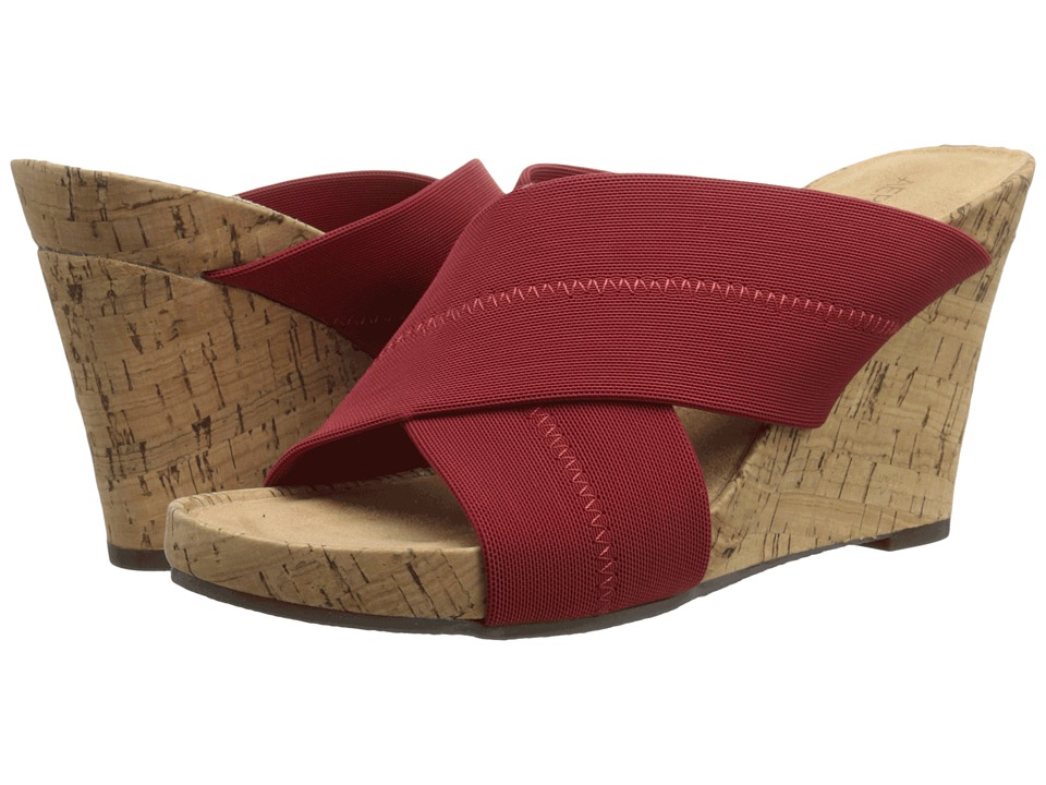 Aerosoles - Party Plush (Red Fabric) Women's Wedge Shoes