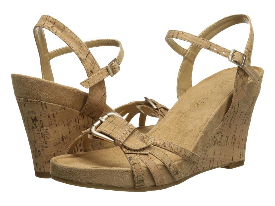 Aerosoles - Plush Around (Cork Combo) Women's Wedge Shoes