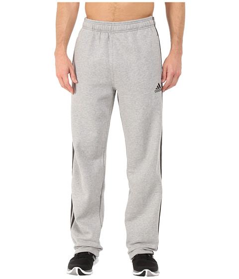 adidas - Essential Heavyweight Fleece Pants (Medium Grey Heather) Men's Workout