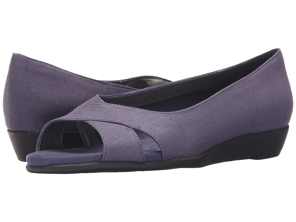 Aerosoles - Silver Platter (Blue Fabric) Women's Flat Shoes