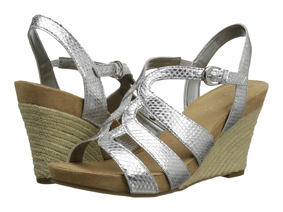 Aerosoles - Plush Plenty (Silver Snake) Women's Wedge Shoes