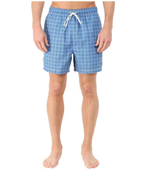 Nautica - Micro Floral Print Trunk (Blue Charm) Men's Swimwear