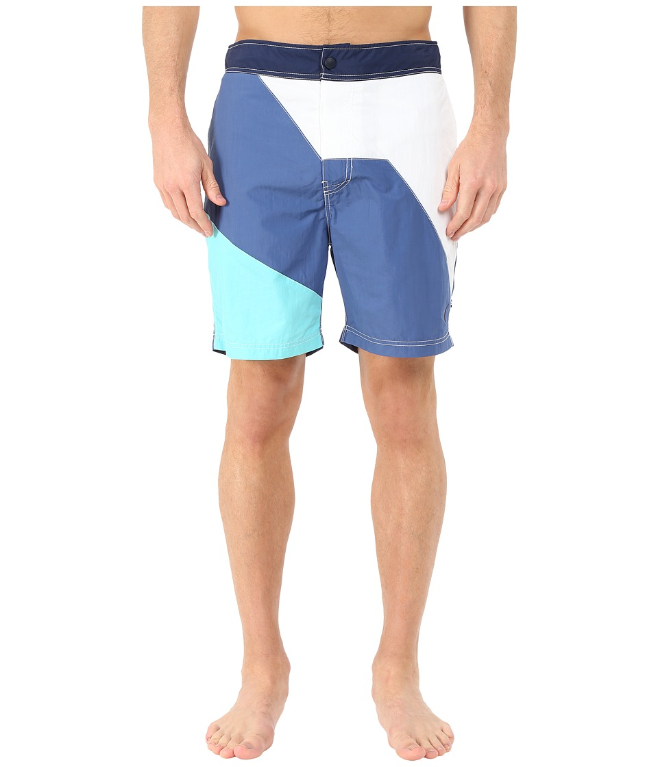Nautica - Diaginal Color Block Trunk (Union Blue) Men's Swimwear