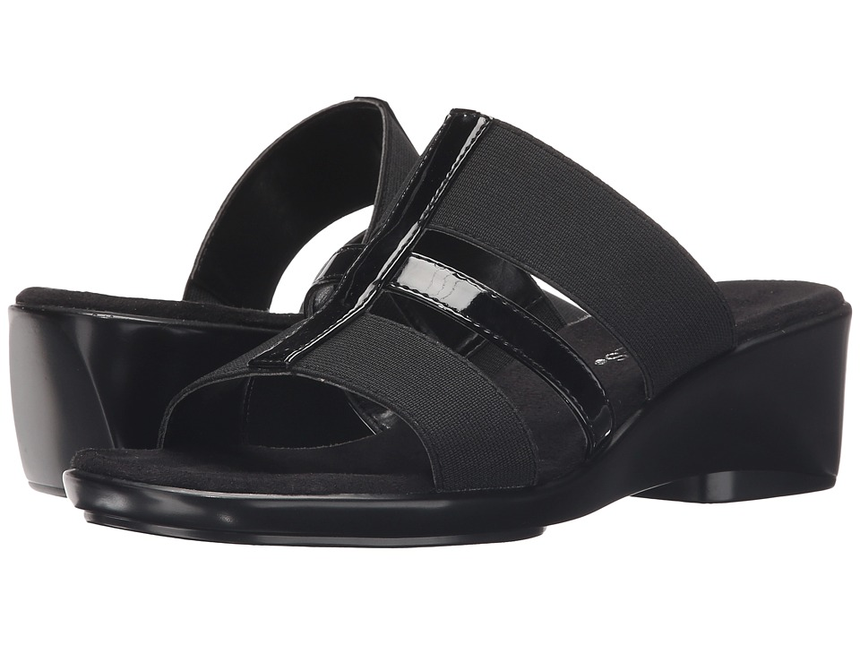 Aerosoles - Flaunt (Black Patent) Women's Slide Shoes