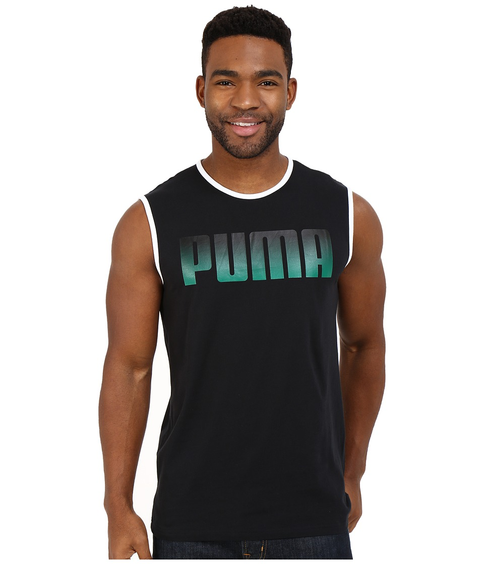 PUMA - Running Logo Tank Top (Black) Men's Sleeveless