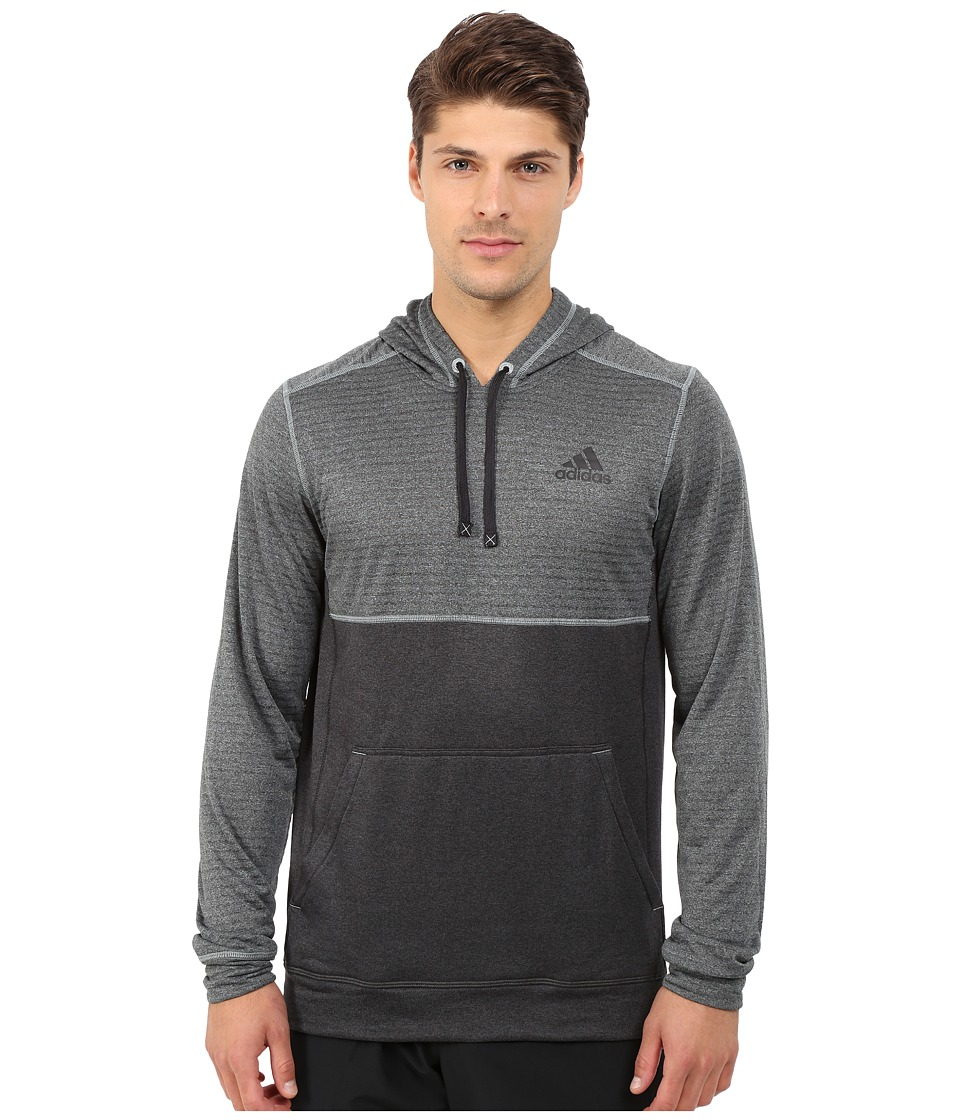 adidas - Ultimate Fleece Pullover Hoodie Burnout (Green Earth F15) Men's Sweatshirt