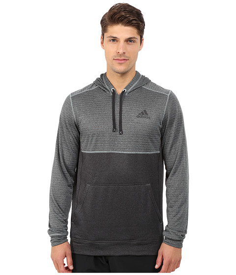 adidas - Ultimate Fleece Pullover Hoodie Burnout (Green Earth F15) Men