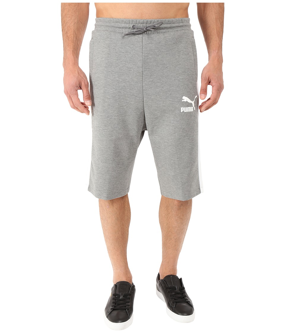 PUMA - Archive T7 Bermuda (Medium Gray Heather) Men's Clothing