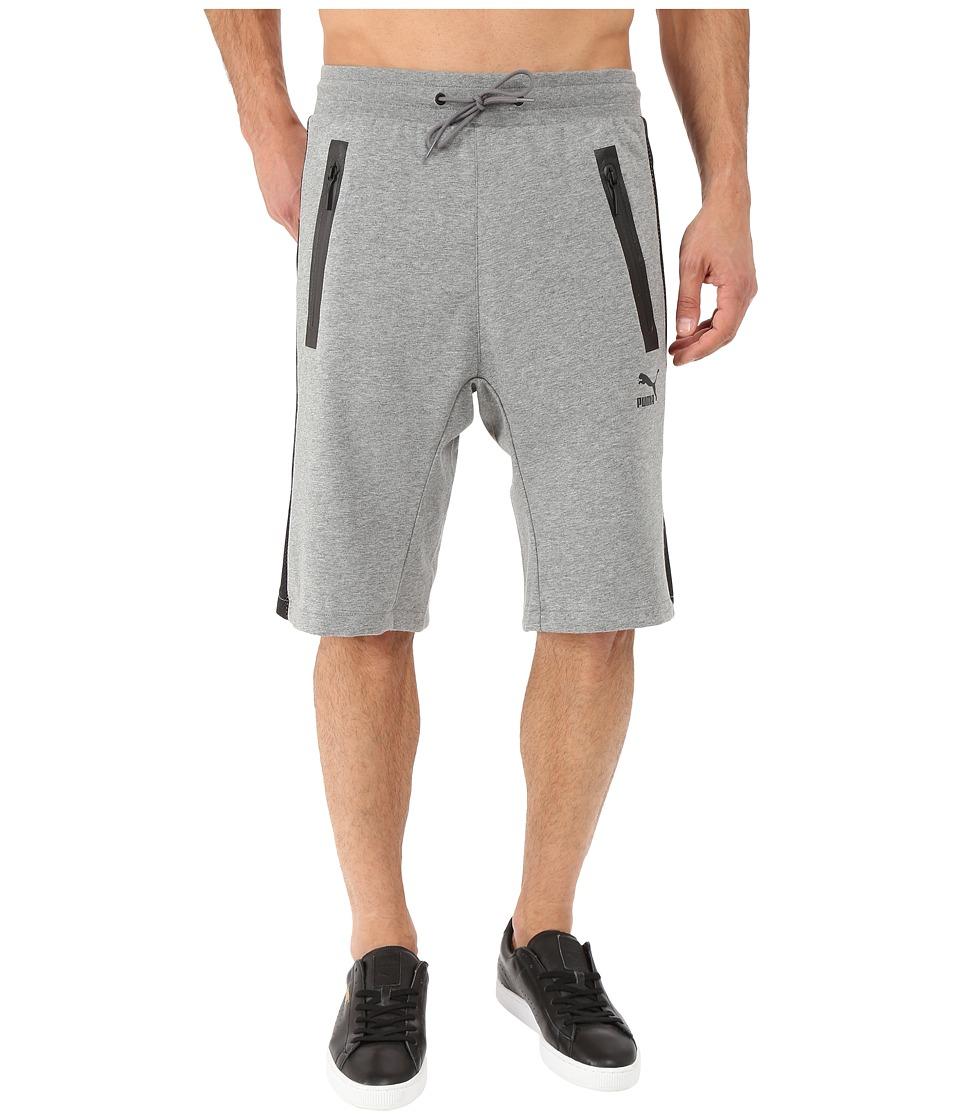 PUMA - Evo Sweat Bermuda (Medium Gray Heather) Men's Clothing