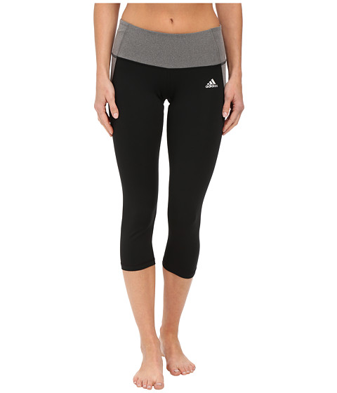 adidas - Clima Essentials 3/4 Tights (Black) Women's Workout