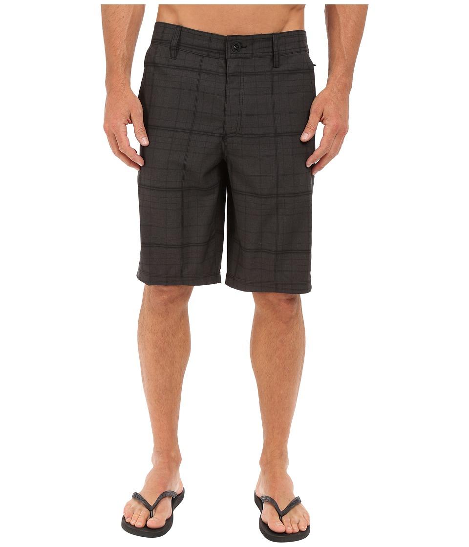 O'Neill - Hybrid Freak Plaid Short (Black) Men's Swimwear