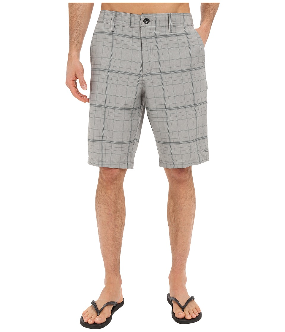 O'Neill - Hybrid Freak Plaid Short (Light Grey) Men's Swimwear