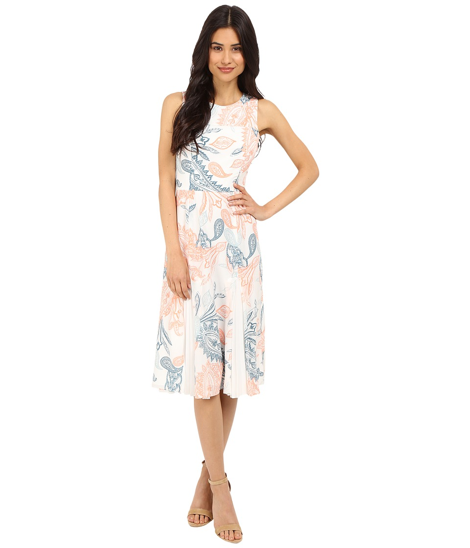 Shoshanna Vivana Dress (Apricot Multi) Women