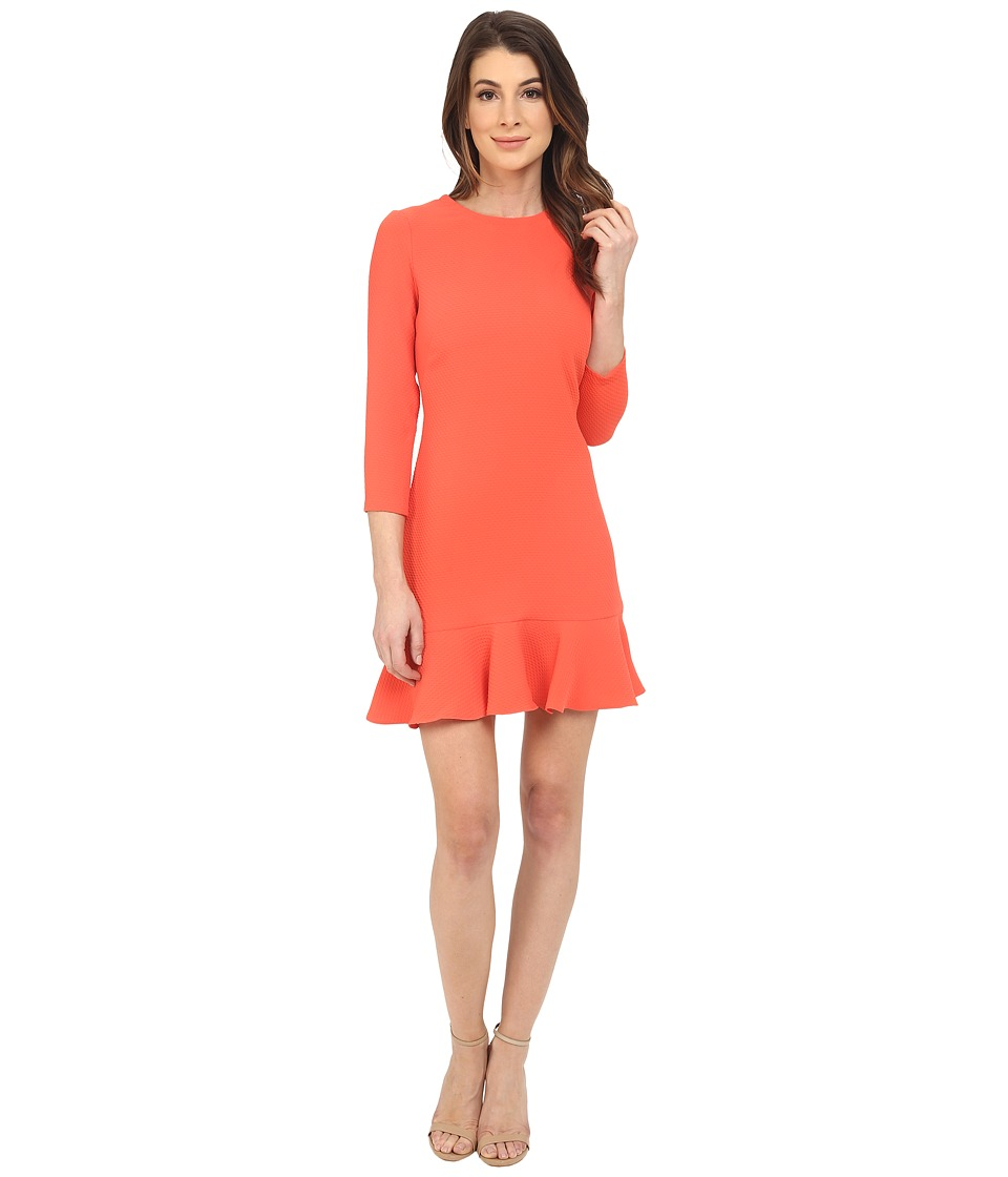 Shoshanna - Tia Dress (Coral) Women's Dress