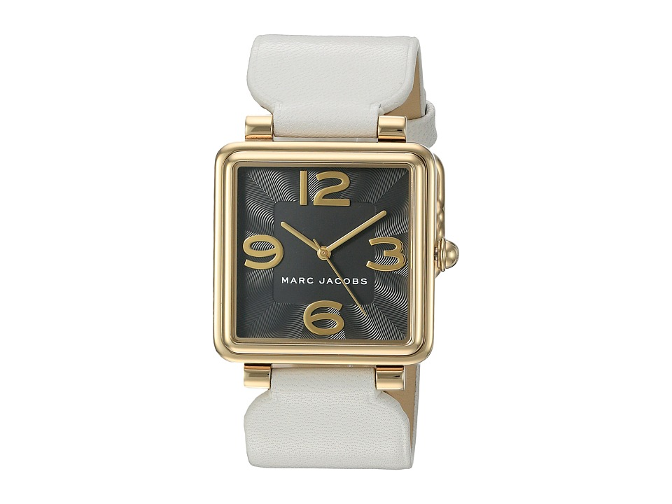 Marc Jacobs - Vic - MJ1440 (Gold Tone Case/White Strap) Watches