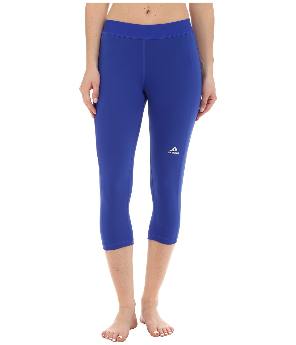 adidas - Techfit Capri Tights (Bold Blue) Women's Capri
