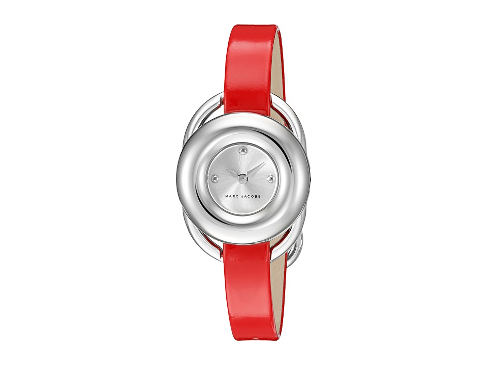 Marc Jacobs - Jerrie - MJ1444 (Stainless Steel Case/Red Patent Strap) Watches